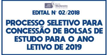 Processo Seletivo para Concessão de Bolsas de Estudo 2019