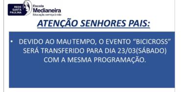 ATENÇÃO SENHORES PAIS!
